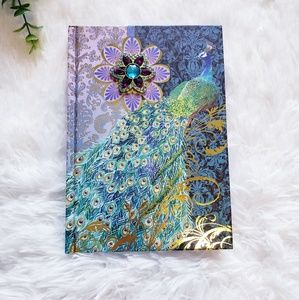Peacock lined hardcover journal notebook